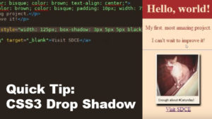 CSS3 Drop Shadow